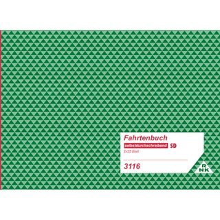 RNK Verlag Fahrtenbuch LKW, DIN A5 quer, 2 x 25 Blatt, SD