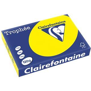 Clairalfa Universal-Papier Troph'e A4, 120 g/qm,kanariengelb