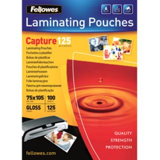 Fellowes Laminierfolientasche, 75 x 105 mm, 250 mic
