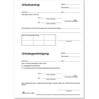 "RNK Verlag Vordruck ""Urlaubsantrag"", Block, DIN A5"