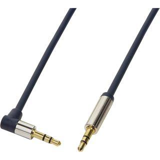 1.50m LogiLink Audio Anschlusskabel gewinkelt 3.5mm Klinken-Stecker auf 3.5mm Klinken-Stecker Blau