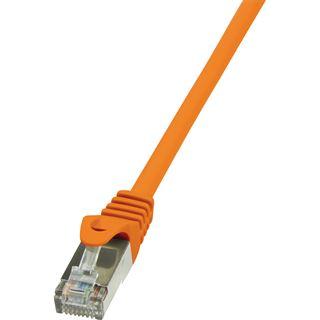 (€0,98*/1m) 5.00m LogiLink Cat. 6 Patchkabel F/UTP RJ45 Stecker auf RJ45 Stecker Orange vergoldet