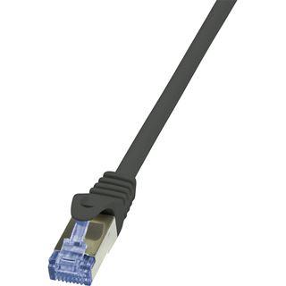 (€1,05*/1m) 7.50m LogiLink Cat. 6a Patchkabel S/FTP PiMF RJ45 Stecker auf RJ45 Stecker Schwarz halogenfrei / Polybag / Twisted Pair