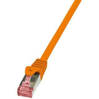 (€1,38*/1m) 5.00m LogiLink Cat. 6 Patchkabel S/FTP PiMF RJ45 Stecker auf RJ45 Stecker Orange halogenfrei / Kupfer