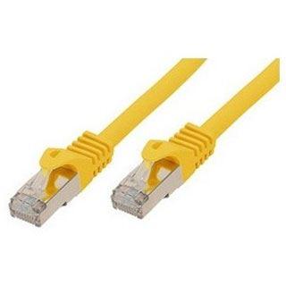 (€9,80*/1m) 0.50m ShiverPeaks Cat. 7 Patchkabel S/FTP PiMF RJ45 Stecker auf RJ45 Stecker Gelb halogenfrei / vergoldet