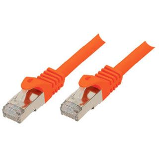 (€2,30*/1m) 3.00m ShiverPeaks Cat. 7 Patchkabel S/FTP PiMF RJ45 Stecker auf RJ45 Stecker Orange halogenfrei / vergoldet