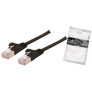 (€0,99*/1m) 10.00m ShiverPeaks Cat. 7 Anschlusskabel U/FTP RJ45 Stecker auf RJ45 Stecker Schwarz flach