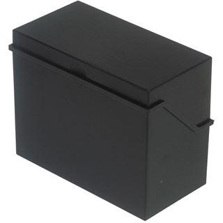 helit Klein-Karteikasten A5 quer, schwarz, unbestückt