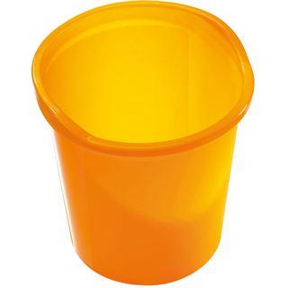 helit Papierkorb Economy Transluzent, PP, orange-transluzent