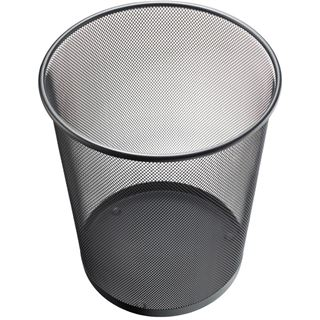 helit Papierkorb Mesh, aus Drahtmetall, 23 Liter, schwarz