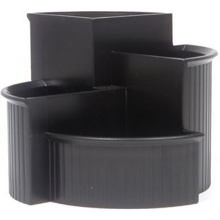 helit Multiköcher Linear, 4 Fächer, Polystyrol, schwarz