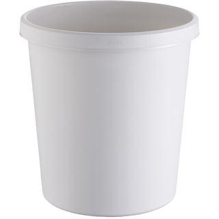 helit Papierkorb, 18 Liter, PE, rund, lichtgrau