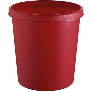 helit Papierkorb, 18 Liter, PE, rund, rot