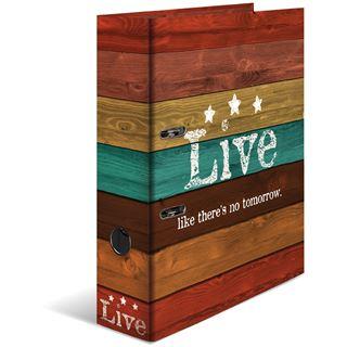 """HERMA Motivordner """"Woody Live"""", DIN A4, Rückenbreite: 70 mm"""