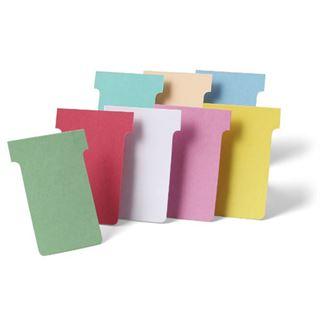 nobo T-Karten, Größe 2 / 60 mm, 170 g/qm, pink