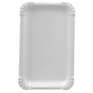 """PAPSTAR Papp-Teller """"pure"""" eckig, Maße: 110 x 175 mm, weiß"""