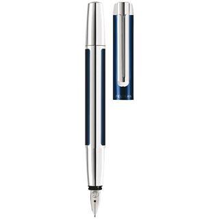 "Pelikan Füllhalter ""Pura 40"", blau/silber, Federbreite: M"