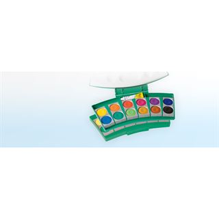 Pelikan Deckfarbkasten ProColor 735, 24 Farben, waldmeister