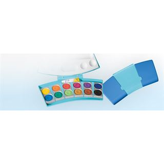 Pelikan Deckfarbkasten ProColor 735, 12 Farben, blau