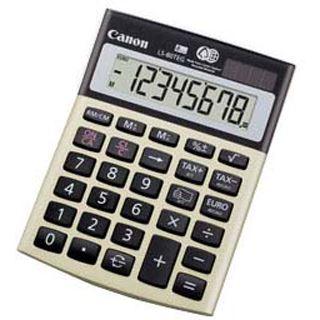 Canon Tischrechner LS-80 TEG, Solar-/ Batteriebetrieb