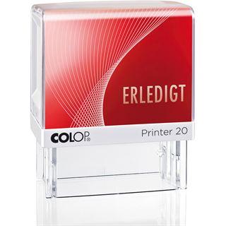 """COLOP Textstempel Printer 20 """"ERLEDIGT"""", mit Textplatte"""