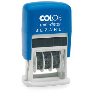 """COLOP Datumstempel Mini Dater S160 L2 """"BEZAHLT"""""""