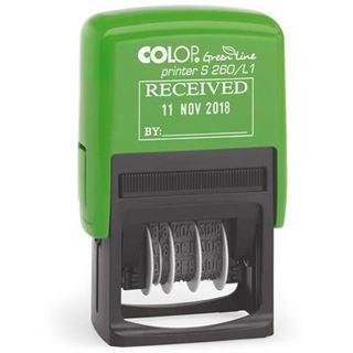 "COLOP Datumstempel ""Green Line"" Printer S260/L3 ""GEBUCHT"""