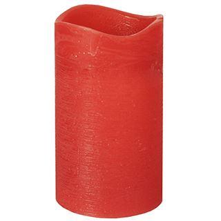 PAPSTAR LED-Stumpenkerze, Höhe: 125 mm, rot
