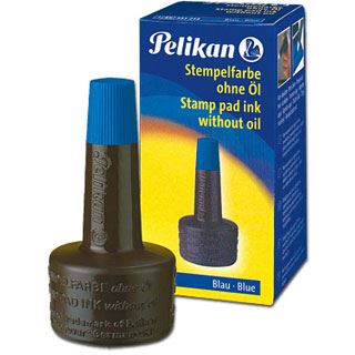 Pelikan Stempelfarbe 4K, blau, Inhalt: 28 ml