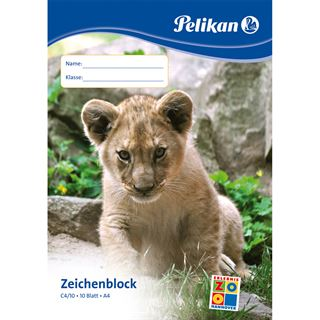 Pelikan Zeichenblock C 4/10, DIN A4, 100 g/qm, 10 Blatt
