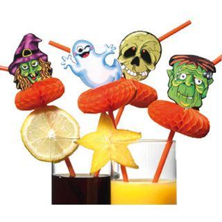 "SUSY CARD Trinkhalm ""Halloween"", flexibel, aus Kunststoff"