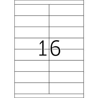 TOP STICK Universal-Etiketten, 105 x 33,8 mm, weiß,100 Blatt