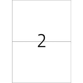 TOP STICK Universal-Etiketten, 210 x 148 mm, weiß, 100 Blatt