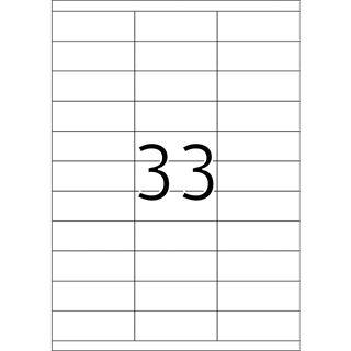 TOP STICK Universal-Etiketten, 70 x 25,4 mm, weiß
