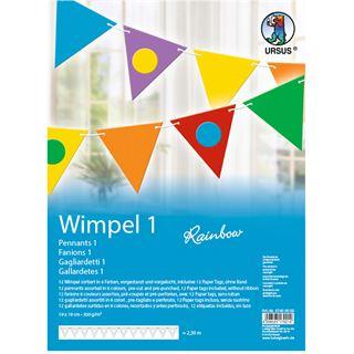 "URSUS Wimpelkette-Bastelset ""Dreieck Rainbow 1"""