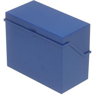 helit Klein-Karteikasten A5 quer, blau, unbestückt