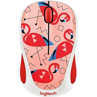 Logitech M238 Flamingo USB weiß mit Motiv (kabellos)