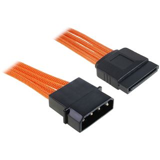 BitFenix Molex zu SATA Adapter 45 cm sleeved orange/schwarz