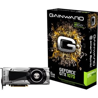 8GB Gainward GeForce GTX 1070 Founders Edition Aktiv PCIe 3.0 x16 (Retail)