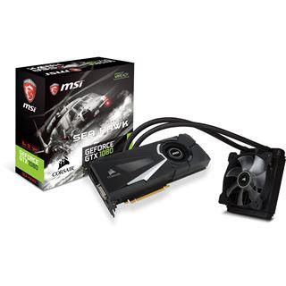 8GB MSI GeForce GTX 1080 SEA HAWK X Wasser PCIe 3.0 x16 (Retail)