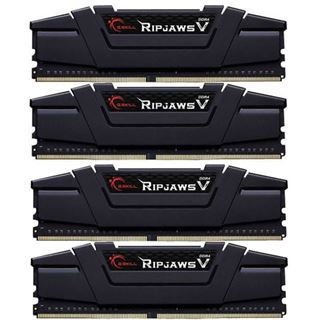 64GB G.Skill RipJaws V schwarz DDR4-3000 DIMM CL14 Quad Kit