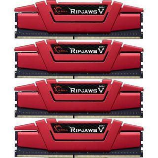 64GB G.Skill RipJaws V rot DDR4-3400 DIMM CL16 Quad Kit