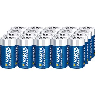 Varta Batterie Mono D/AM1 High Energy 1,5V LR20 AL-MN 16500mAh Ø34,2x61,5mm