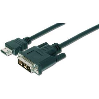 (€2,18*/1m) 5.00m Digitus DVI-D Adapterkabel High-Speed HDMI auf DVI 18+1 Stecker Schwarz vernickelt