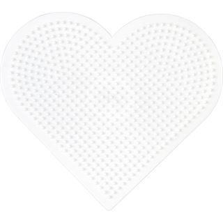 "Hama Stiftplatte ""großes Herz"", weiß"