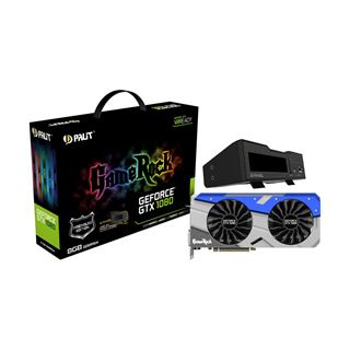 8GB Palit GeForce GTX 1080 GameRock Premium Edition inkl. G-Panel Aktiv PCIe 3.0 x16 (Retail)