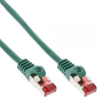 (€2,30*/1m) 3.00m InLine Cat. 6 Patchkabel S/FTP RJ45 Stecker auf RJ45 Stecker Grün halogenfrei / Knickschutzelement / Rastnasenschutz