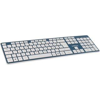 Lian Li TerminAl KB01 USB und Bluetooth Deutsch blau (kabellos)