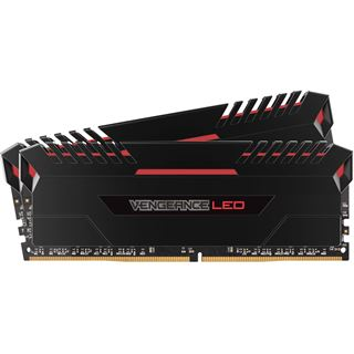 16GB Corsair Vengeance LED rot DDR4-3000 DIMM CL15 Dual Kit