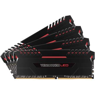 32GB Corsair Vengeance LED rot DDR4-3400 DIMM CL16 Quad Kit